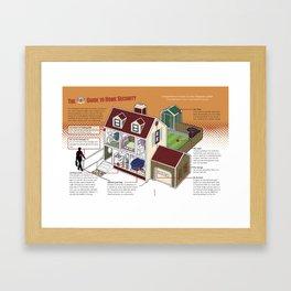 Home Security Framed Art Print