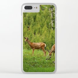 Wapiti In Yellowstone N P Clear iPhone Case