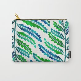 Fern Leaf – Blue & Green Palette Carry-All Pouch