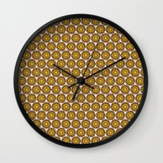 orange (pattern) Wall Clock