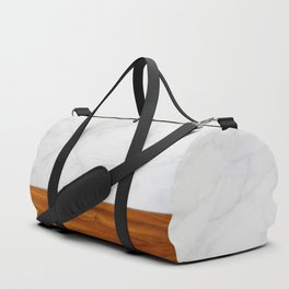 Marble and Wood 2 Duffle Bag