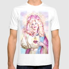 Saint Dolly Parton SMALL White Mens Fitted Tee