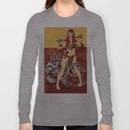 Ritu Oh: Cave Woman Pinup Long Sleeve T-shirt