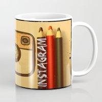 instagram Mugs featuring For Instagram Lovers ;) by Julia Kovtunyak