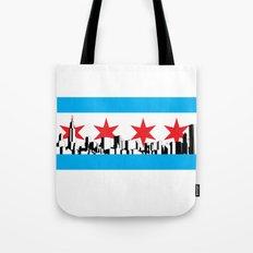 New Chicago Flag Tote Bag