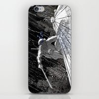 ninja turtle iPhone & iPod Skins featuring Black and White Ninja Turtle Leonardo by James Tuer