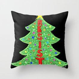 CDC Resist Tree Throw Pillow