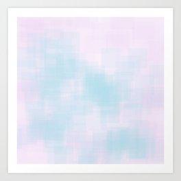 pink rose blue inspiration Art Print