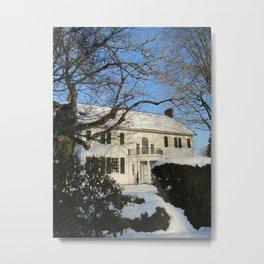 Snowy Home Metal Print