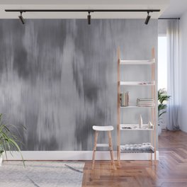 Fusion Abstract Watercolor Blend Pantone Lilac Gray / Fluid Art Ink Wall Mural