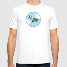 Sweet Snail Mens Fitted Tee White SMALL