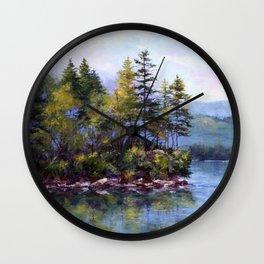Reflecting Pines Wall Clock