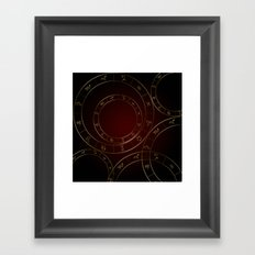 Zodiac circles and signs black and red Framed Art Print