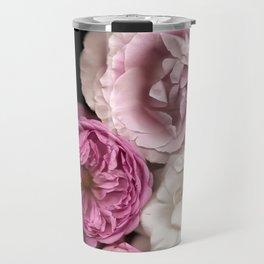 Purple, Pink, and White Roses Travel Mug