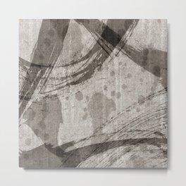 Smearing Metal Print