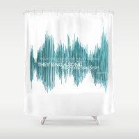oscar wilde Shower Curtains featuring OSCAR by barbaraGLEN