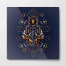 mammoth sacred geometry Metal Print