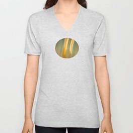 Ancient Gold and Turquoise Texture Unisex V-Neck