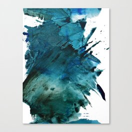 Scenic Route [2]: a pretty, minimal abstract piece in blue and green by Alyssa Hamilton Art Canvas Print