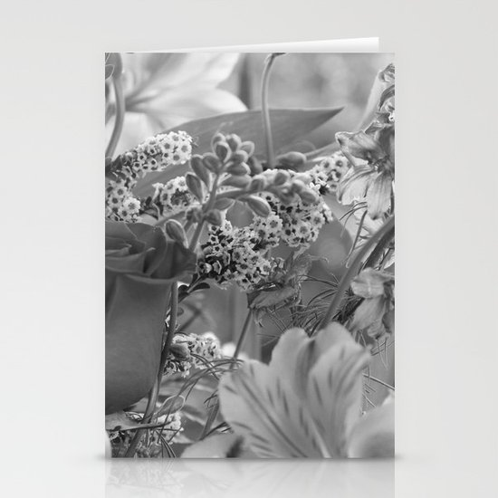 Bouquet B&W Stationery Cards
