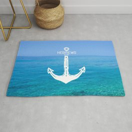 Hebrews Anchor Ocean Rug
