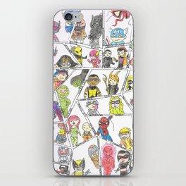 Heros and Villians iPhone Skin