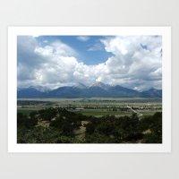 Colorado Mountain Range Art Print