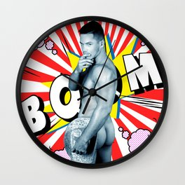 comics man Wall Clock