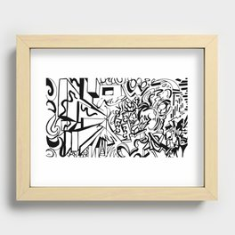 Ambigram Madness Recessed Framed Print
