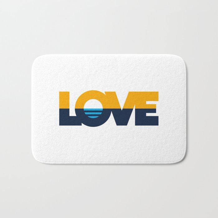 LOVE - People's Flag of Milwaukee Bath Mat