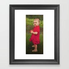 Little Eve (red) Framed Art Print