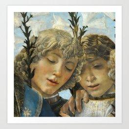 Sandro Botticelli - Angels 1. detail Art Print
