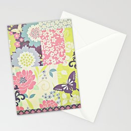 Vintage Floral Collage Stationery Cards