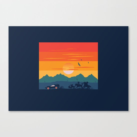 Back to the Wild West Canvas Print