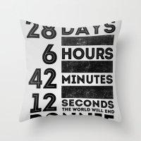 donnie darko Throw Pillows featuring Donnie Darko 28:6:42:12 by Eric Schroeder