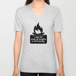 I Love the Smell of Campfire in the Morning Unisex V-Neck