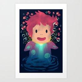 Goldfish by the Sea Art Print
