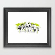 3D GRAFFITI - SWEED Framed Art Print