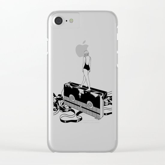 Walking on bad memories Clear iPhone Case