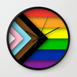 Progress Pride Flag Wall Clock