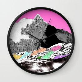 Technicolor landscape Wall Clock