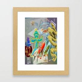Rocket,Snake,42 Framed Art Print