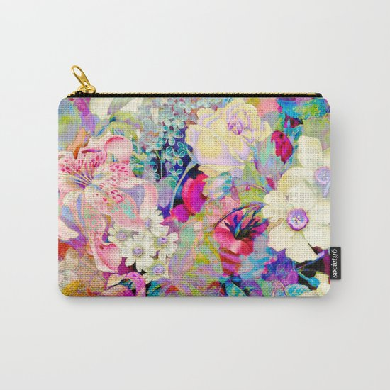 summery floral Carry-All Pouch
