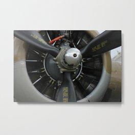 B-17 ENGINE AND Propeller Metal Print