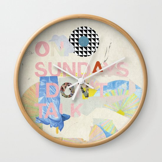ON SUNDAYS I DON'T TALK Wall Clock