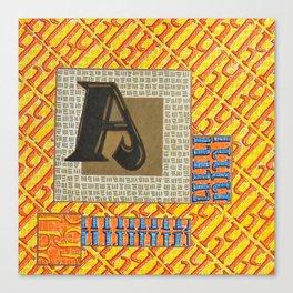 Alpha-Numero: A Canvas Print