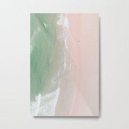 Ocean Lace Metal Print