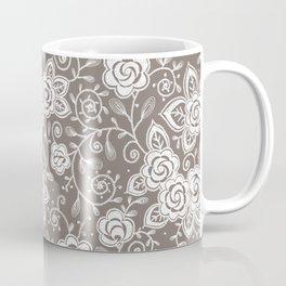 Roses lace seamless pattern. Coffee Mug