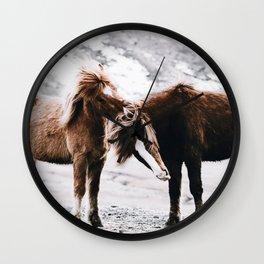 Wild Horses III / Iceland Wall Clock