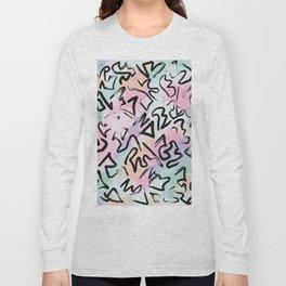 Abstract Modern Graffiti Watercolor Brushstrokes Long Sleeve T-shirt